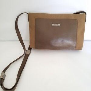 Tumi unisex long strap crossbody bag purse